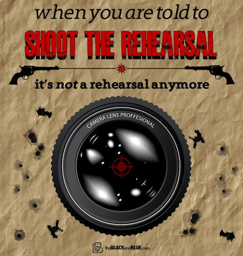 Shoot the Rehearsal Graphic